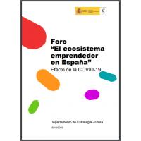 """Foro """"El ecosistema emprendedor en España"""". Efecto de la COVID-19"""