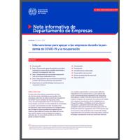 Intervenciones para apoyar a las empresas durante la pandemia de COVID-19 y la recuperación