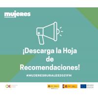 Campaña #MujeresRurales2021FM: Recomendaciones para abordar procesos de inserción laboral con mujeres del mundo rural.