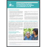 Desigualdades de género en la prestación de cuidados y la retribución en la UE